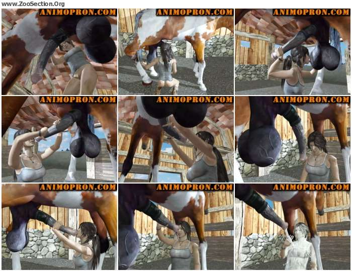 4f0f581013044224 - Laras Horse Blowjob [Anime / Hentai]