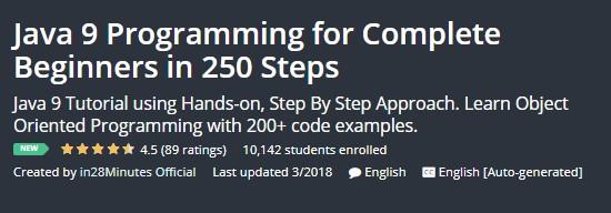 Java 9 Programming for Complete Beginners in 250 Steps