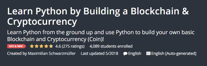 Learn Python by Building a Blockchain Cryptocurrency