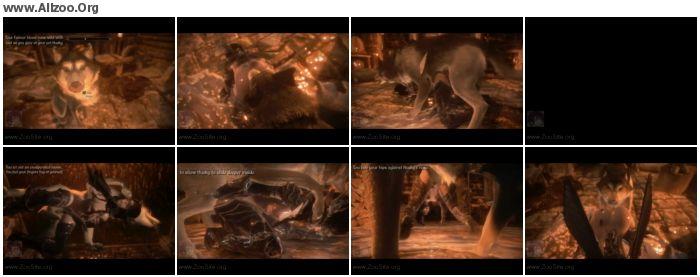 8061b8952500094 - Cartoon Zoo - [Skyrim] Elf girl knotted HD - Naughty Machinima 2 - Animated Animal Porn