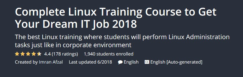 Complete Linux Training Course to Get Your Dream IT Job 2018
