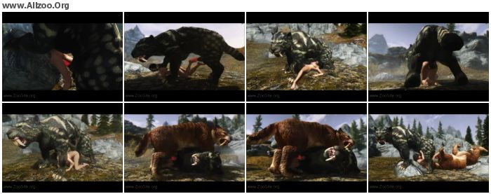 edf49d1093195764 - Bestiality Cartoon - Skyrim - Sabre Cat Fun - Zoo Sex Anime Hentai