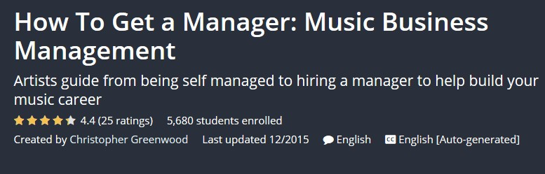 How To Get a Manager: Music Business Management