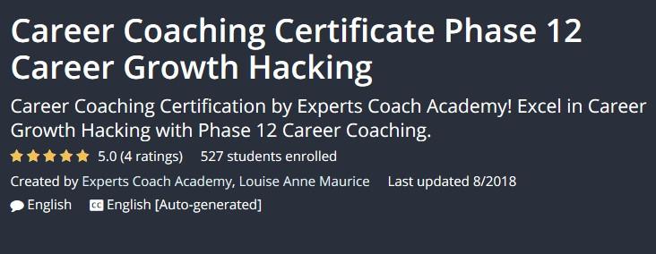 GET] Career Coaching Certificate Phase 12 Career Growth Hacking