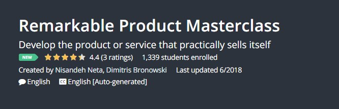 Remarkable Product Masterclass