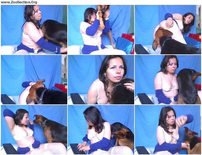 68610e1200913574 - Amateur - Webcam - Lady and dog 2 / Stickam ZooSex