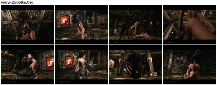 c1f2d01093190314 - Skyrim - Giant Insect Gets Bone Zoned - AnimalSex Cartoon
