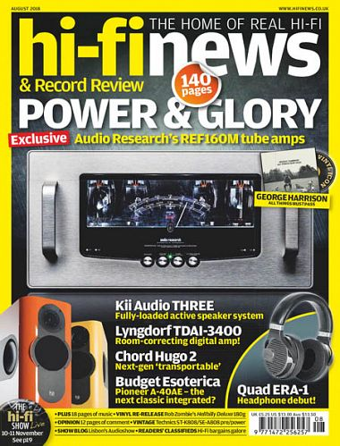Hi-Fi News – August 2018