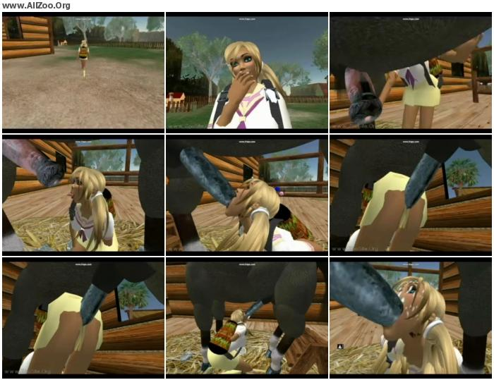 339033737052093 - Horse Toon - Small Mobile Bestiality Video