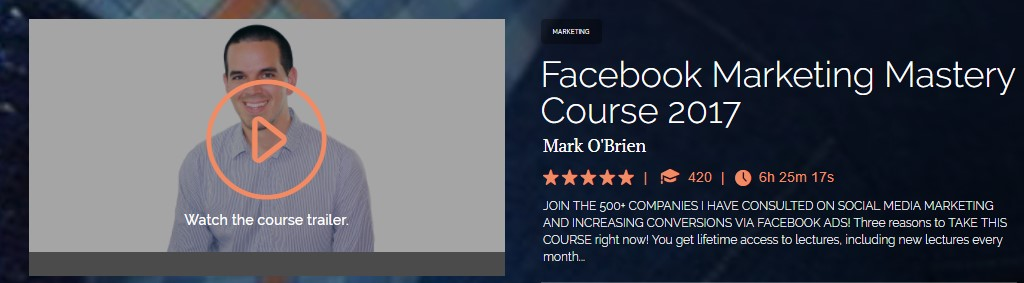 Mark O'Brien - Facebook Marketing Mastery Course 2017