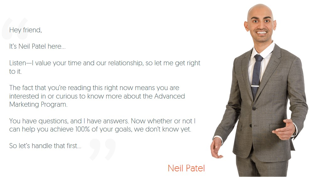 Neil Patel Advanced Consulting Program 2017