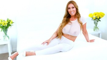 Kianna Dior - Super sheer white yoga outfit ripped oiled up and fucked in (2018) 1080p