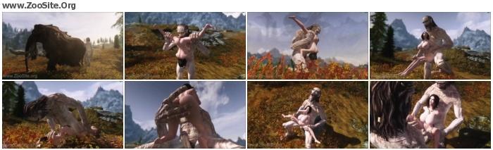 b28161952482554 - Giant Tries Human Pussy - Skyrim - Naughty Machinima 2 - Bestiality Porn Animation