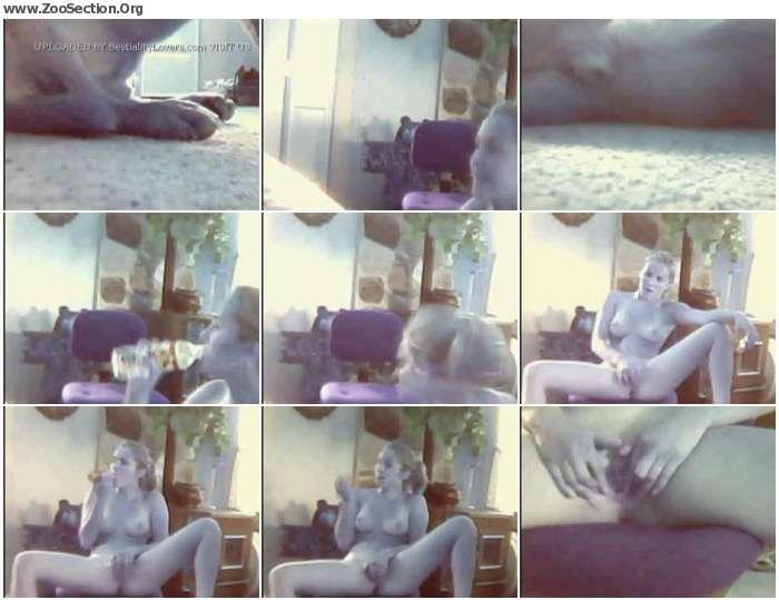 6791591012951434 - Webcam Dog Licking Pussy Slut Teen Girl Films Dog Licking Her Pussy / Stickam ZooSex