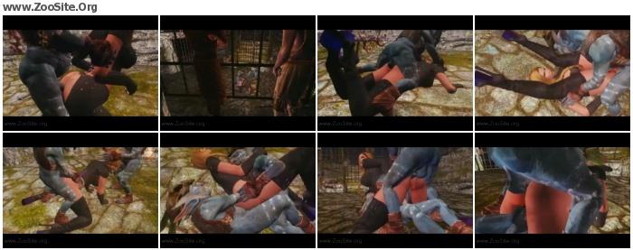 abbf99952482814 - Skyrim Beastly Arena Round 1 - Naughty Machinima 2 - Bestiality Porn Animation