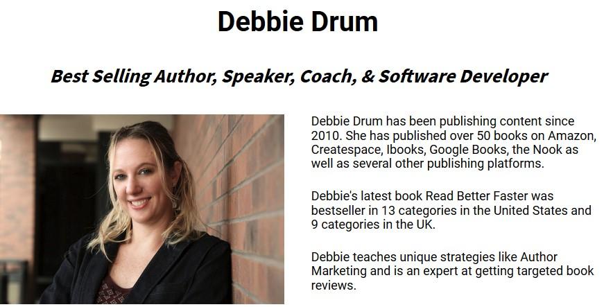 Debbie Drum - How I wrote 6000 words in 50 minutes