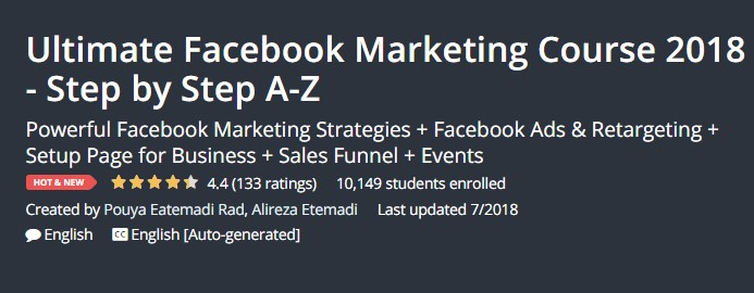 Ultimate Facebook Marketing Course 2018 - Step by Step A-Z