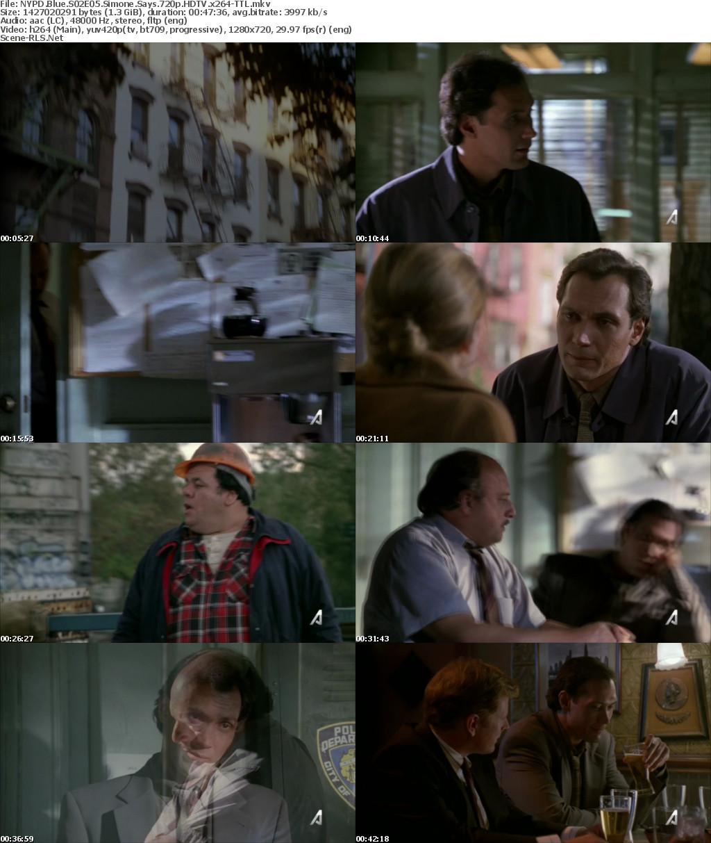 NYPD Blue S02E05 Simone Says 720p HDTV x264-TTL - Scene Release