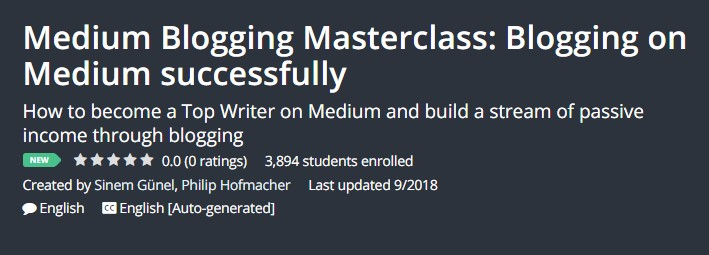 Medium Blogging Masterclass: Blogging on Medium successfully