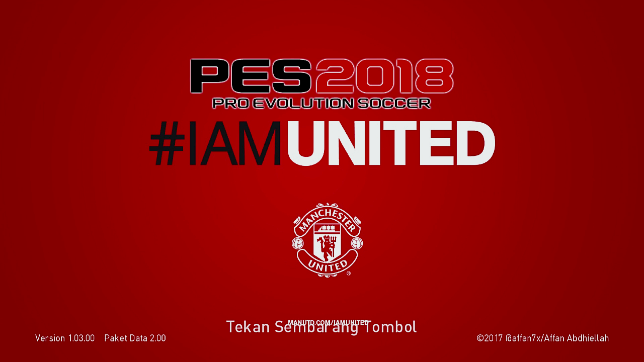 PES 2018 I'm United Start Screen by affan7x