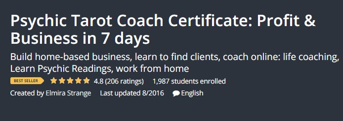 Psychic Tarot Coach Certificate: Profit & Business in 7 days
