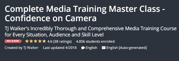 Complete Media Training Master Class Confidence on Camera