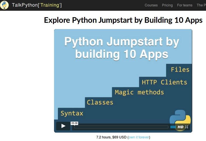 [TalkPython]Python Jumpstart by Building 10 Apps