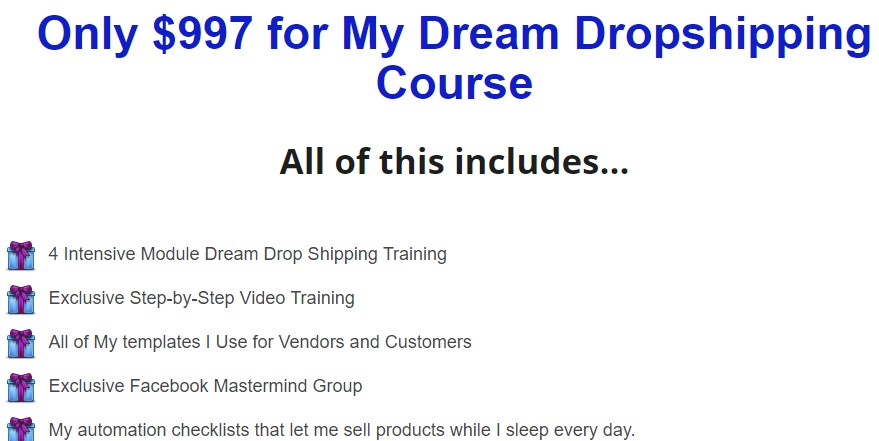 Online Empire Academy - Dream Dropshipping Course