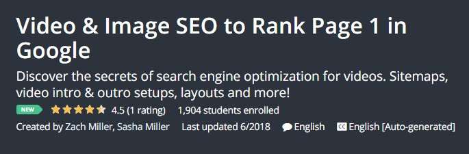 Video Image SEO to Rank Page 1 in Google