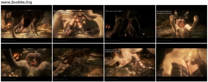 4ddd76952480334 - [Skyrim] Elf girl knotted 2 HD - Naughty Machinima 2 - Bestiality Porn Animation
