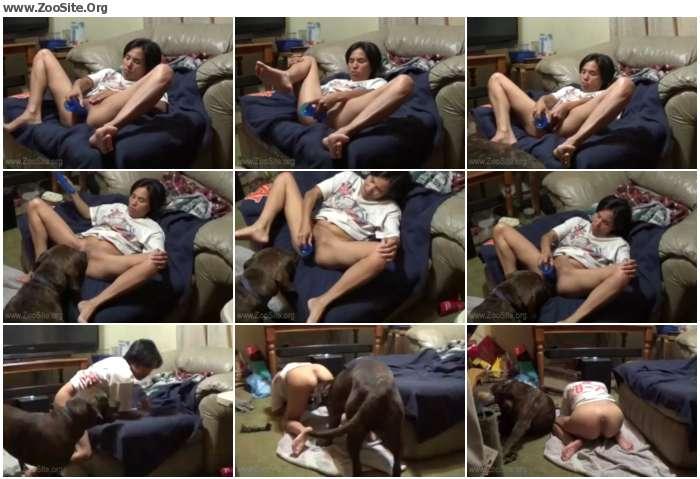 6f9455745207093 - Dildo and the dog - 日本からの動物のポルノの獣姦、犬のポルノ