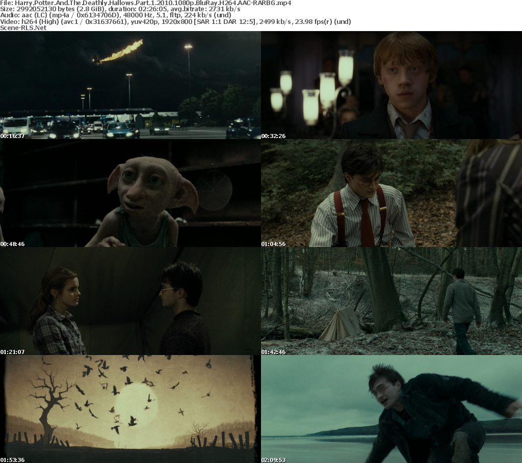 harry potter and the deathly hallows part 1 2010 1080p