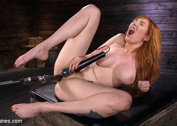 FuckingMachines - Lauren Phillips - Busty Redhead Lauren Phillips Gets Machine Fucked In The Dungeon (2019)