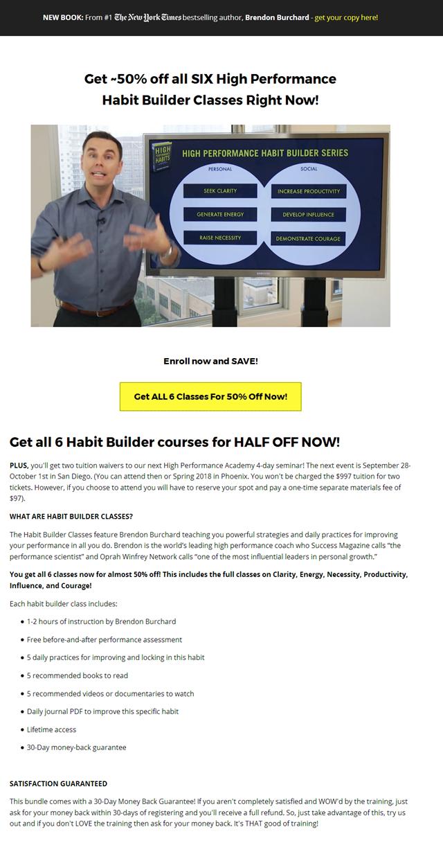 Brendon Burchard - Habit Builder Series