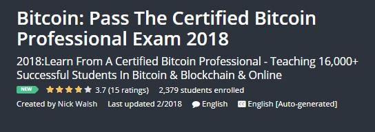 Bitcoin: Pass The Certified Bitcoin Professional Exam 2018