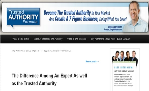 Greg Habstritt - Trusted Authority Formula