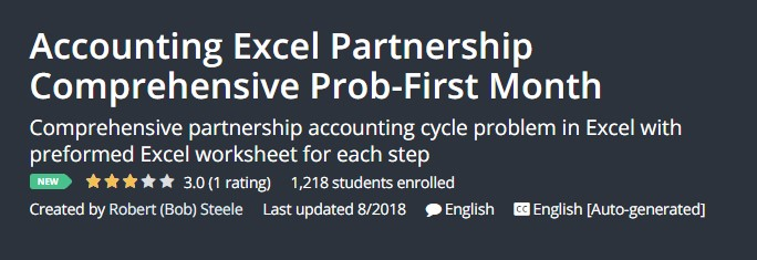 Accounting Excel Partnership Comprehensive Prob-First Month
