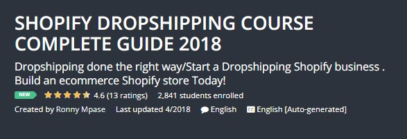SHOPIFY DROPSHIPPING COURSE COMPLETE GUIDE 2018