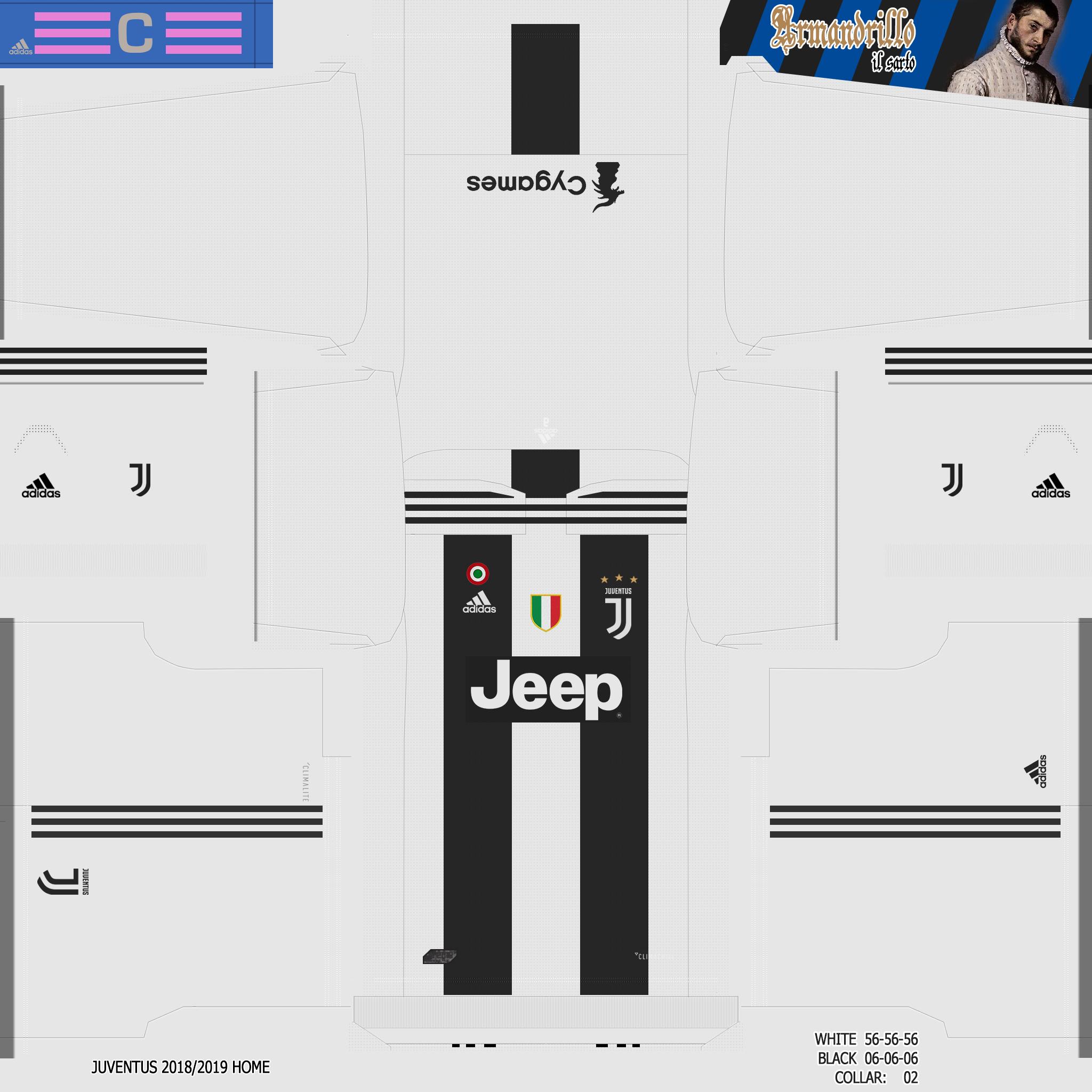 big sale c0681 e8cd6 Kits - Juventus FC 2018/19   PESTeam.it Forum