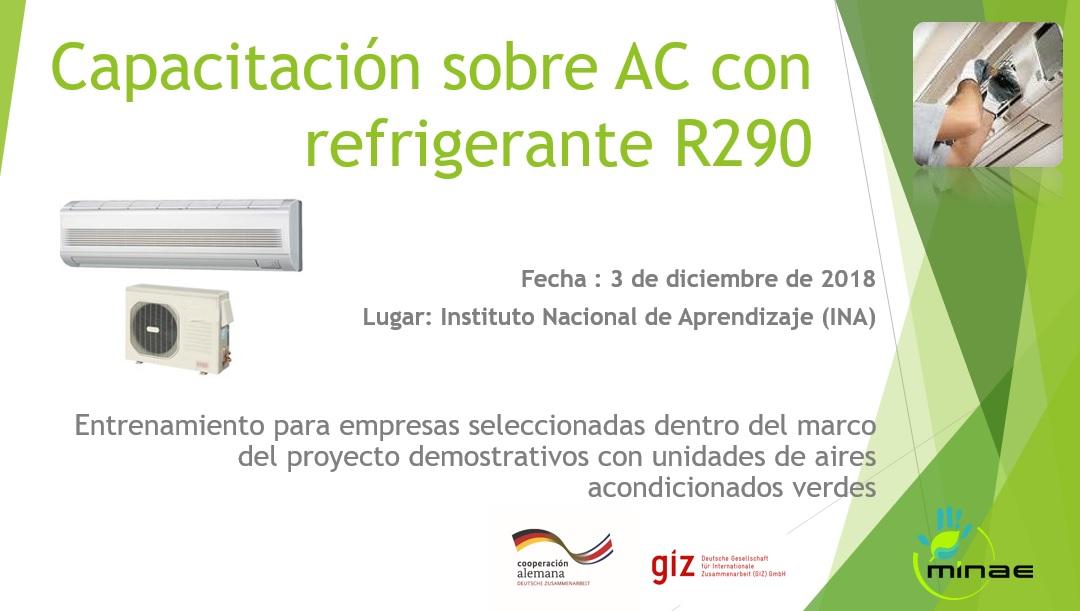 Capacitación sobre AC con refrigerante R290 | Digeca