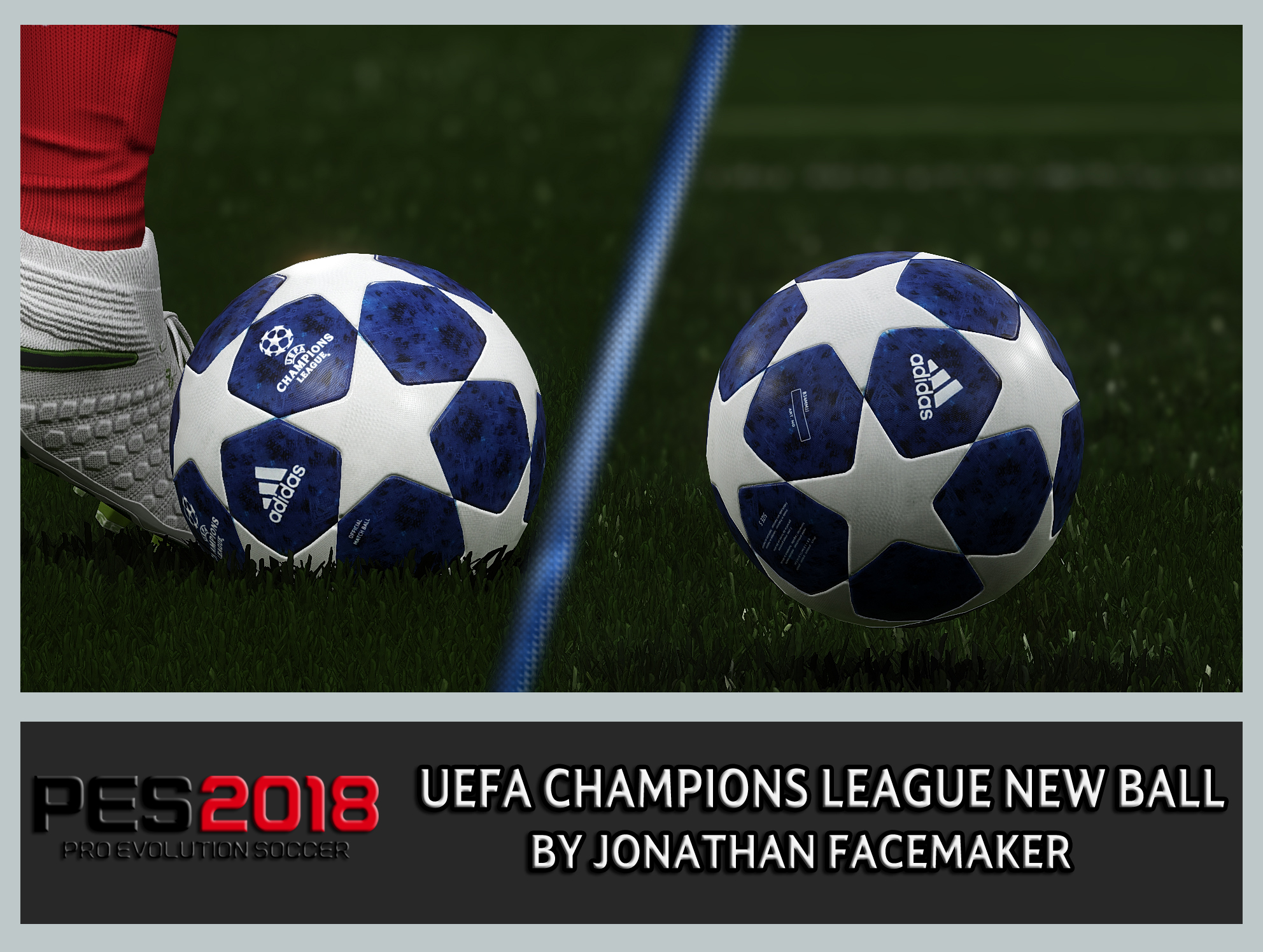 PES 2018 Champions League New Ball by Jonathan Facemaker