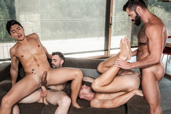 LucasEntertainment - Andrey Vic, Ken Summers, Max Arion, Victor Dangelo - Raw Bros Foursome (2019)
