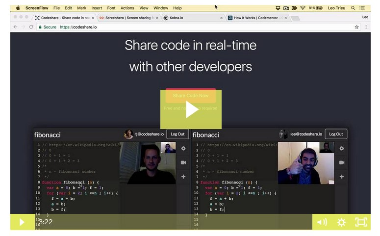 Build Collaborative editor and Real time video call with NodeJS
