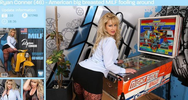 Mature.nl Mature.eu: American Big Breasted MILF Fooling Around Starring: Ryan Conner (46)