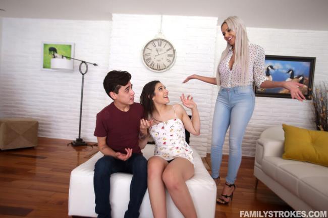 TeamSkeet.com FamilyStrokes.com: A Thrilling Stepmom Threesome Starring: Amina Fara