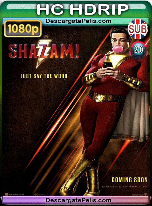 Shazam! 2019 1080p HC HDrip v2 Subtitulado