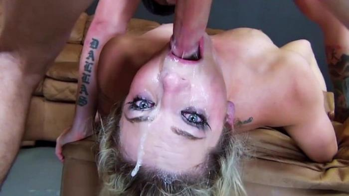 3-HoleGirls: Hot Skinny Blonde 24-Minute Non-stop Face Fucking Throat Gagging, Messy Cum Starring: Unknown