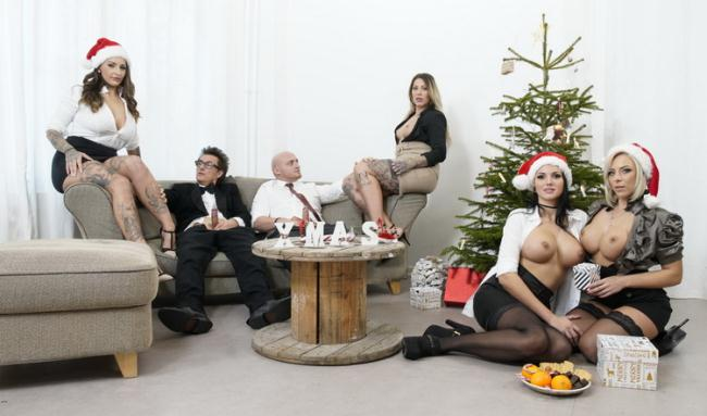 Jolee Love - German babes Jolee Love, Lilli Vanilli in Christmas group sex affair Pt.1 (2021 BumsBuero.com PornDoePremium.com) [FullHD   1080p  1.11 Gb]