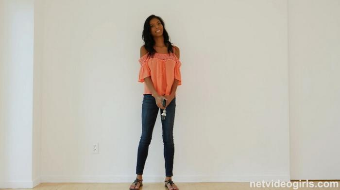 NetVideoGirls: Sex Deprived 18 Year old Black Girl Showed up at the right Audition Starring: Nia Nacci