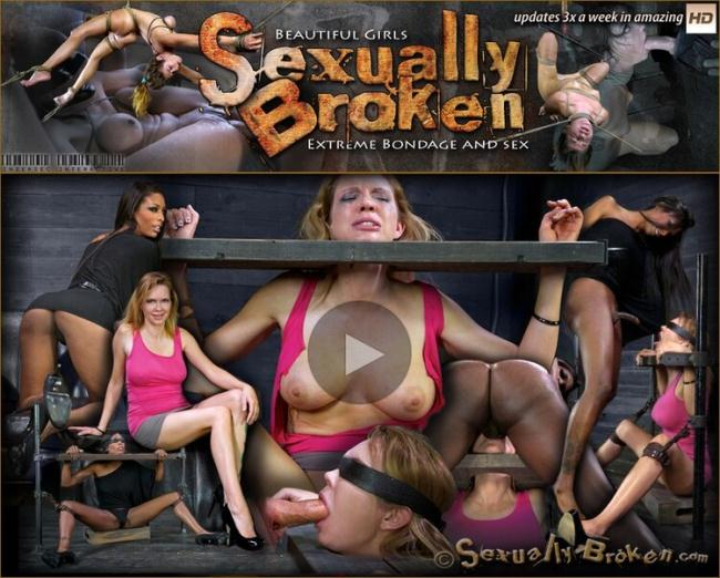 Rain DeGrey - Sexy blond, with long legs, gets brutally throat fucked by two cocks! (2021 SexuallyBroken.com) [HD   720p  857.57 Mb]